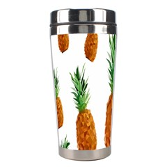 Pineapple Print Polygonal Pattern Stainless Steel Travel Tumblers by Nexatart