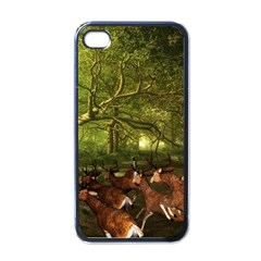 Red Deer Deer Roe Deer Antler Apple Iphone 4 Case (black) by Nexatart