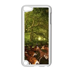 Red Deer Deer Roe Deer Antler Apple Ipod Touch 5 Case (white) by Nexatart