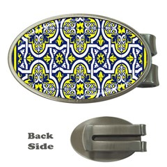 Tiles Panel Decorative Decoration Money Clips (oval)  by Nexatart