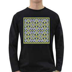 Tiles Panel Decorative Decoration Long Sleeve Dark T Shirts