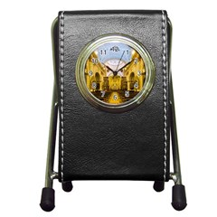 Church The Worship Quito Ecuador Pen Holder Desk Clocks by Nexatart