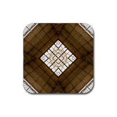 Steel Glass Roof Architecture Rubber Square Coaster (4 Pack)