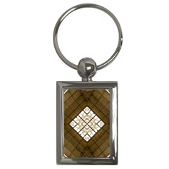 Steel Glass Roof Architecture Key Chains (rectangle)