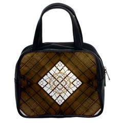 Steel Glass Roof Architecture Classic Handbags (2 Sides) by Nexatart