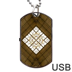 Steel Glass Roof Architecture Dog Tag Usb Flash (one Side) by Nexatart