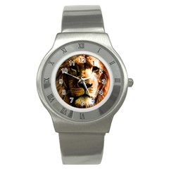 Lion  Stainless Steel Watch