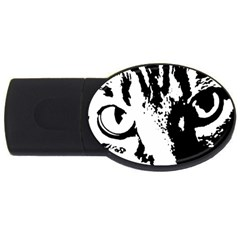 Cat Usb Flash Drive Oval (2 Gb) by Valentinaart