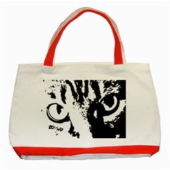 Cat Classic Tote Bag (red) by Valentinaart
