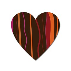 Colorful Striped Background Heart Magnet by TastefulDesigns