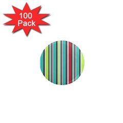 Colorful Striped Background  1  Mini Magnets (100 Pack)  by TastefulDesigns
