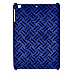 Woven2 Black Marble & Blue Brushed Metal (r) Apple Ipad Mini Hardshell Case by trendistuff