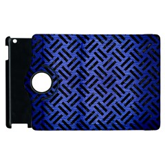 Woven2 Black Marble & Blue Brushed Metal (r) Apple Ipad 2 Flip 360 Case by trendistuff