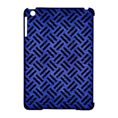 Woven2 Black Marble & Blue Brushed Metal (r) Apple Ipad Mini Hardshell Case (compatible With Smart Cover) by trendistuff