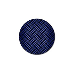 Woven2 Black Marble & Blue Brushed Metal Golf Ball Marker (4 Pack) by trendistuff
