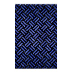 Woven2 Black Marble & Blue Brushed Metal Shower Curtain 48  X 72  (small) by trendistuff