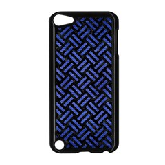 Woven2 Black Marble & Blue Brushed Metal Apple Ipod Touch 5 Case (black) by trendistuff