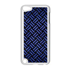Woven2 Black Marble & Blue Brushed Metal Apple Ipod Touch 5 Case (white) by trendistuff