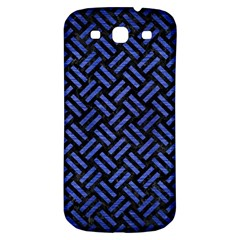 Woven2 Black Marble & Blue Brushed Metal Samsung Galaxy S3 S Iii Classic Hardshell Back Case by trendistuff