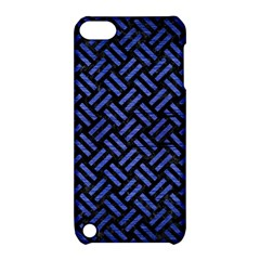 Woven2 Black Marble & Blue Brushed Metal Apple Ipod Touch 5 Hardshell Case With Stand by trendistuff