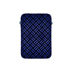 Woven2 Black Marble & Blue Brushed Metal Apple Ipad Mini Protective Soft Case by trendistuff