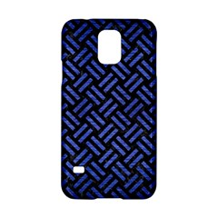 Woven2 Black Marble & Blue Brushed Metal Samsung Galaxy S5 Hardshell Case  by trendistuff