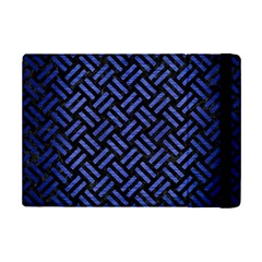 Woven2 Black Marble & Blue Brushed Metal Apple Ipad Mini 2 Flip Case by trendistuff