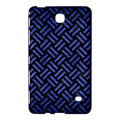 Woven2 Black Marble & Blue Brushed Metal Samsung Galaxy Tab 4 (7 ) Hardshell Case  by trendistuff