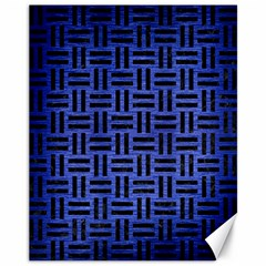 Woven1 Black Marble & Blue Brushed Metal (r) Canvas 11  X 14  by trendistuff