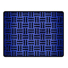 Woven1 Black Marble & Blue Brushed Metal (r) Fleece Blanket (small) by trendistuff