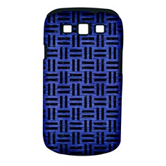 Woven1 Black Marble & Blue Brushed Metal (r) Samsung Galaxy S Iii Classic Hardshell Case (pc+silicone) by trendistuff