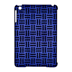 Woven1 Black Marble & Blue Brushed Metal (r) Apple Ipad Mini Hardshell Case (compatible With Smart Cover) by trendistuff