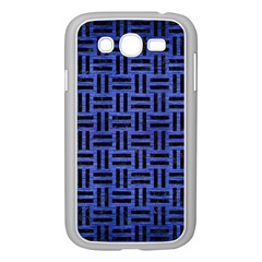 Woven1 Black Marble & Blue Brushed Metal (r) Samsung Galaxy Grand Duos I9082 Case (white) by trendistuff