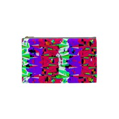 Colorful Glitch Pattern Design Cosmetic Bag (small)  by dflcprints