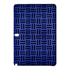 Woven1 Black Marble & Blue Brushed Metal (r) Samsung Galaxy Tab Pro 10 1 Hardshell Case by trendistuff