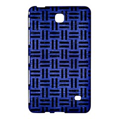 Woven1 Black Marble & Blue Brushed Metal (r) Samsung Galaxy Tab 4 (7 ) Hardshell Case  by trendistuff
