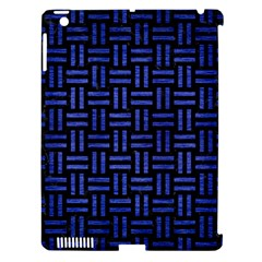 Woven1 Black Marble & Blue Brushed Metal Apple Ipad 3/4 Hardshell Case (compatible With Smart Cover) by trendistuff