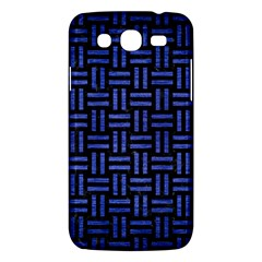 Woven1 Black Marble & Blue Brushed Metal Samsung Galaxy Mega 5 8 I9152 Hardshell Case  by trendistuff