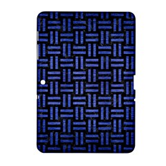 Woven1 Black Marble & Blue Brushed Metal Samsung Galaxy Tab 2 (10 1 ) P5100 Hardshell Case  by trendistuff