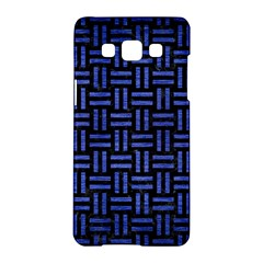 Woven1 Black Marble & Blue Brushed Metal Samsung Galaxy A5 Hardshell Case