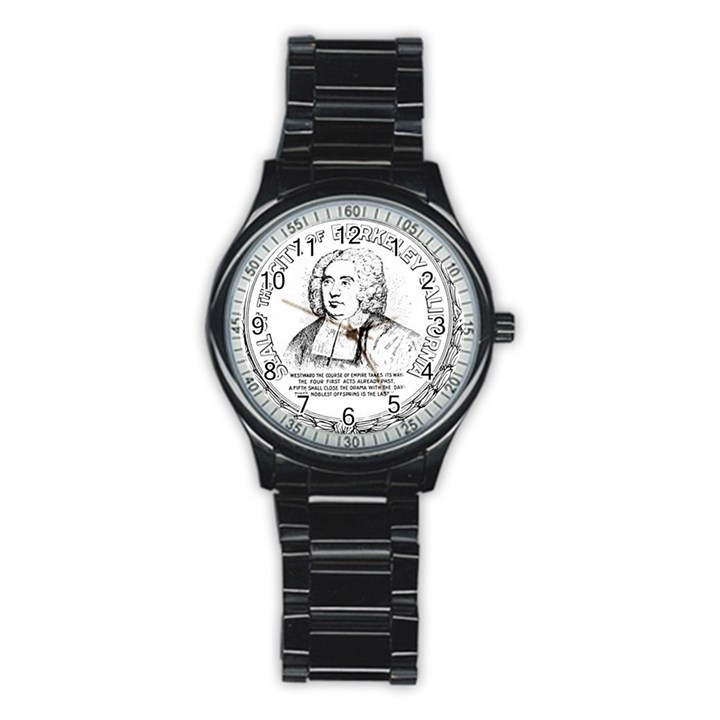 Seal of Berkeley, California Stainless Steel Round Watch