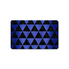 Triangle3 Black Marble & Blue Brushed Metal Magnet (name Card) by trendistuff