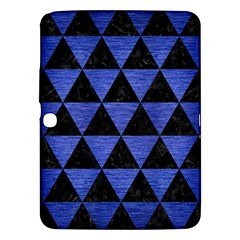 Triangle3 Black Marble & Blue Brushed Metal Samsung Galaxy Tab 3 (10 1 ) P5200 Hardshell Case  by trendistuff