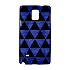 Triangle3 Black Marble & Blue Brushed Metal Samsung Galaxy Note 4 Hardshell Case by trendistuff