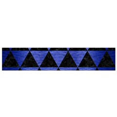 Triangle3 Black Marble & Blue Brushed Metal Flano Scarf (small) by trendistuff