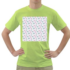 Cute Pastel Butterflies Green T Shirt