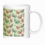 Cute Pastel Butterflies Night Luminous Mugs Right