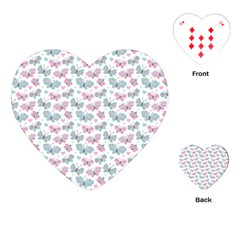 Cute Pastel Butterflies Playing Cards (heart)