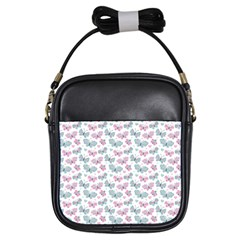Cute Pastel Butterflies Girls Sling Bags by tarastyle