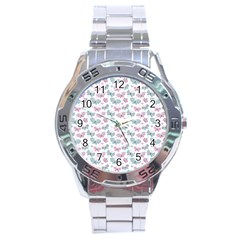 Cute Pastel Butterflies Stainless Steel Analogue Watch by tarastyle